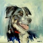 Portrait of Dog by wilma van der meyden