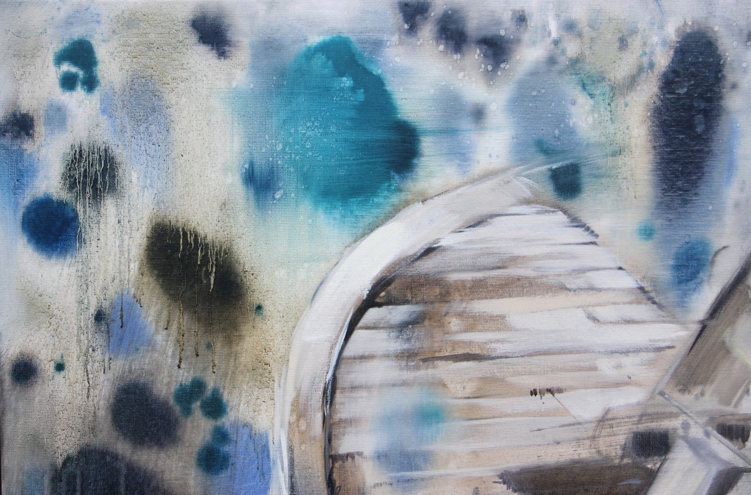 Wilma van der Meyden - oil painting from the series 'Seven Scapes', inspired by the island Berneray