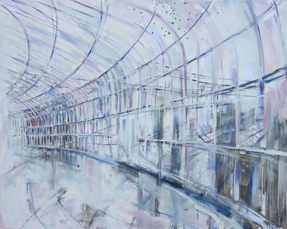 Wilma van der Meyden - oil painting inspired by the Botanical Garden Glass houses in Glasgow Scotland.