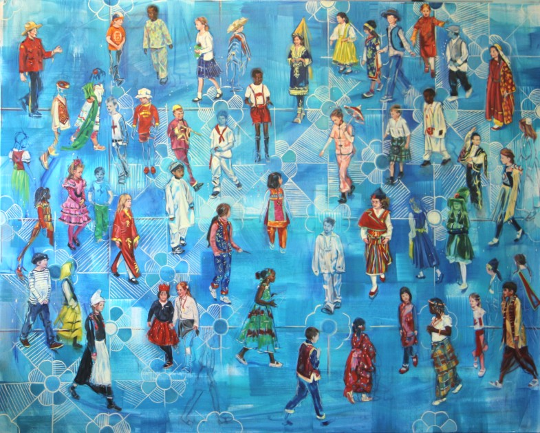 Wilma van der Meyden - oil painting inspired by the International school community in The Hague, the netherlands