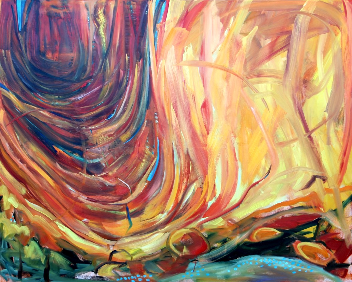 Wilma van der Meyden - oil painting inspired by Uluroo in Australia