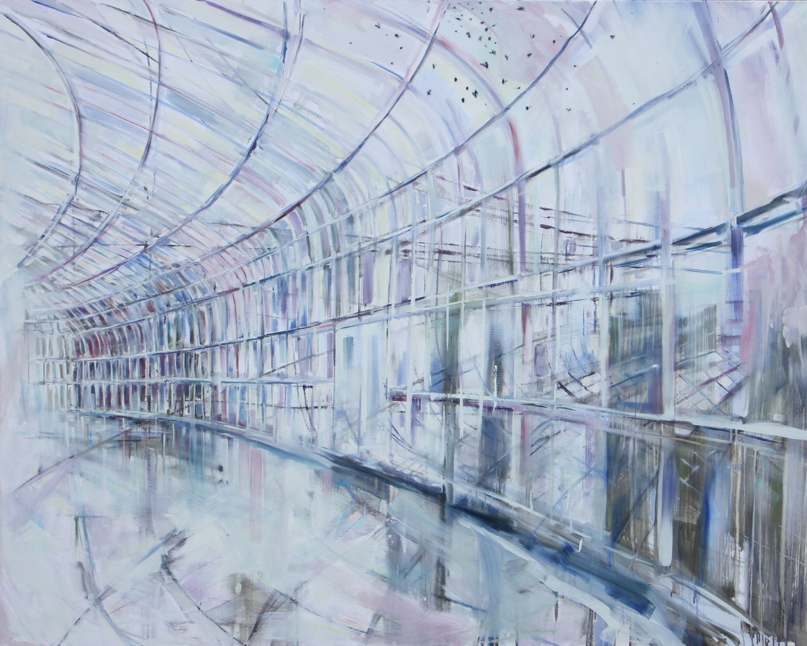 Wilma van der Meyden - oil painting inspired by the Botanical Garden Glass houses in Glasgow Scotland.